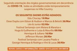 Villa Country: Comunicado Importante!