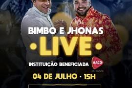 Bimbo e Jhonas preparam próxima live em prol AACD